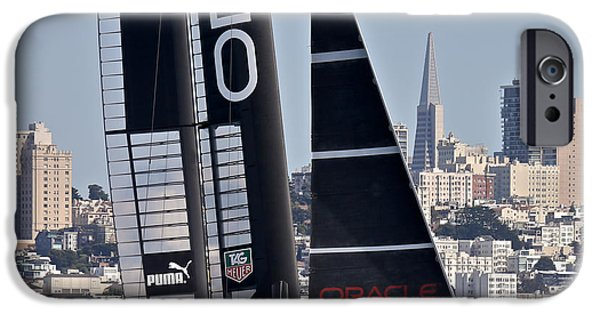 Alcatraz iPhone Cases - Americas Cup Oracle iPhone Case by Steven Lapkin