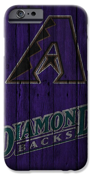 Snow iPhone Cases - Arizona Diamondbacks iPhone Case by Joe Hamilton