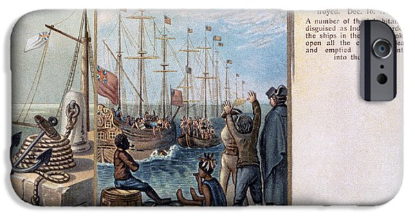 Patriots iPhone Cases - Boston Tea Party, 1773 iPhone Case by Granger