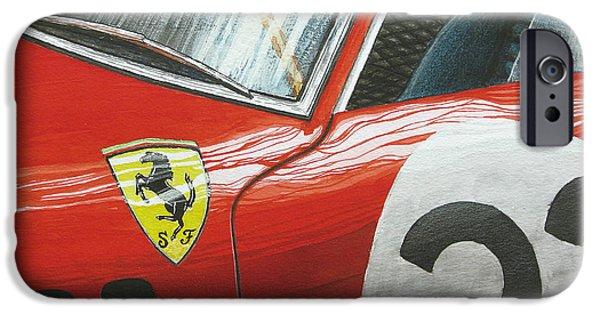 Ferrari 250 Gto iPhone Cases - #22 iPhone Case by Joao Saldanha