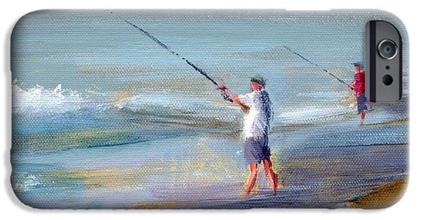 Beach Art iPhone Cases - RCNpaintings.com iPhone Case by Chris N Rohrbach