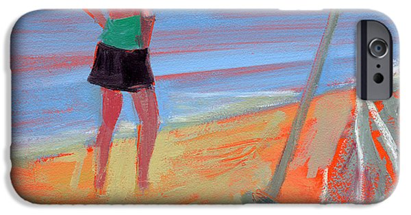 York Beach iPhone Cases - RCNpaintings.com iPhone Case by Chris N Rohrbach