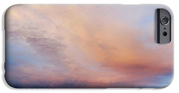 Nature Abstract iPhone Cases - Clouds iPhone Case by Les Cunliffe