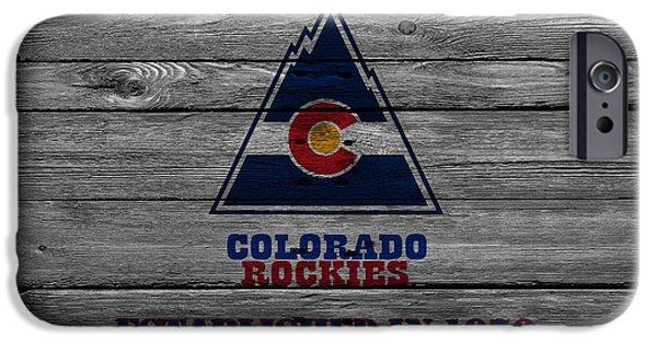 Rockies iPhone Cases - Colorado Rockies iPhone Case by Joe Hamilton