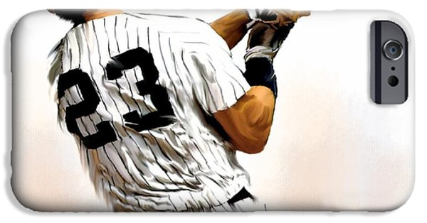 David Drawings iPhone Cases - 23 Don Mattingly iPhone Case by Iconic Images Art Gallery David Pucciarelli