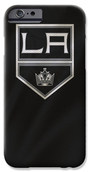 King iPhone Cases - Los Angeles Kings iPhone Case by Joe Hamilton