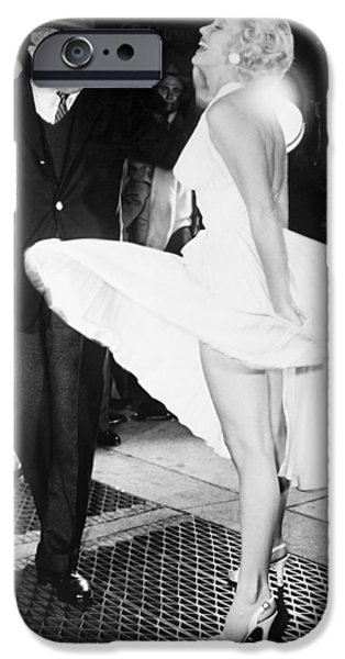 1955 Movies Photographs iPhone Cases - Marilyn Monroe (1926-1962) iPhone Case by Granger