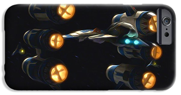 War iPhone Cases - Star Wars For iPhone Case by Michael Vicin