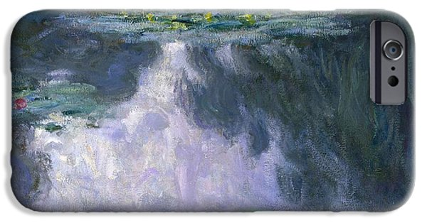 1907 Paintings iPhone Cases - Water Lilies iPhone Case by Claude Monet