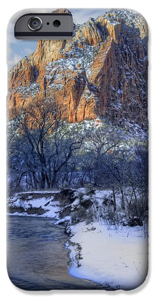 Zion National Park Utah iPhone Case by Utah Images