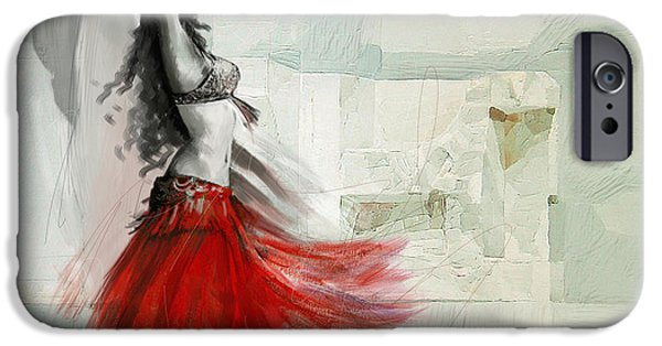 Moroccan iPhone Cases - Belly Dancer 6 iPhone Case by Corporate Art Task Force