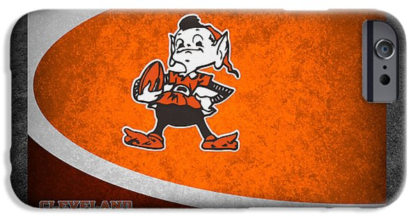Recently Sold -  - Santa iPhone Cases - Cleveland Browns iPhone Case by Joe Hamilton