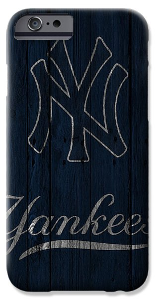 Santa iPhone Cases - New York Yankees iPhone Case by Joe Hamilton