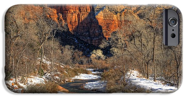 Slickrock iPhone Cases - Zion National Park Utah iPhone Case by Utah Images