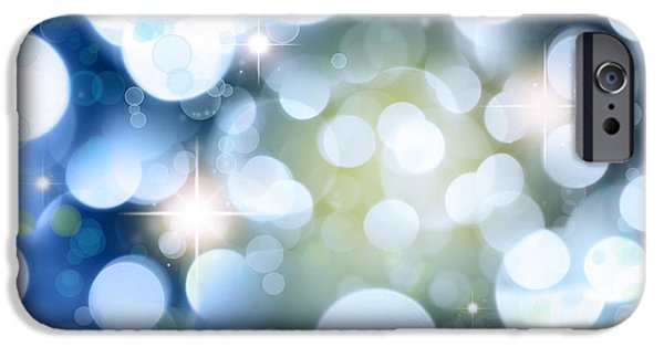 Shine iPhone Cases - Abstract background iPhone Case by Les Cunliffe