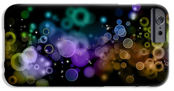 Color Effect iPhone Cases - Abstract background  iPhone Case by Les Cunliffe