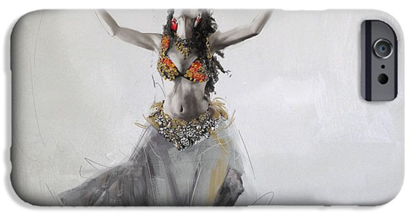 Moroccan iPhone Cases - Belly Dancer 5 iPhone Case by Corporate Art Task Force