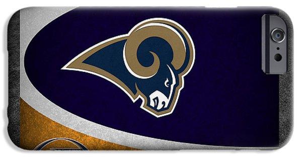 Ram iPhone Cases - St Louis Rams iPhone Case by Joe Hamilton