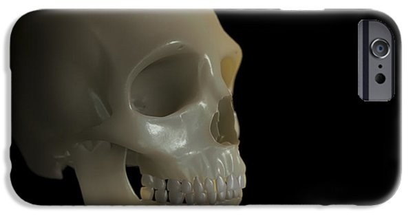 Frontal Bones iPhone Cases - The Skull iPhone Case by Science Picture Co
