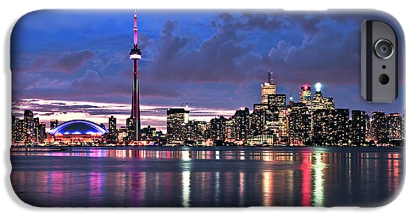 Spectacular iPhone Cases - Toronto skyline iPhone Case by Elena Elisseeva