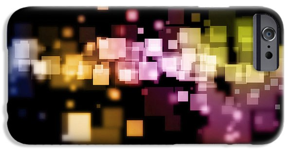Abstract Energy Art iPhone Cases - Abstract background iPhone Case by Les Cunliffe