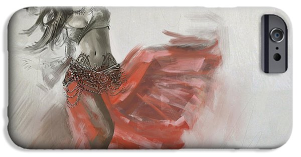 Moroccan iPhone Cases - Belly Dancer 4 iPhone Case by Corporate Art Task Force