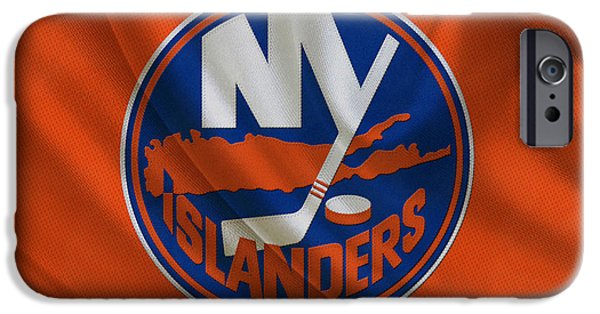 Recently Sold -  - Snow iPhone Cases - New York Islanders iPhone Case by Joe Hamilton