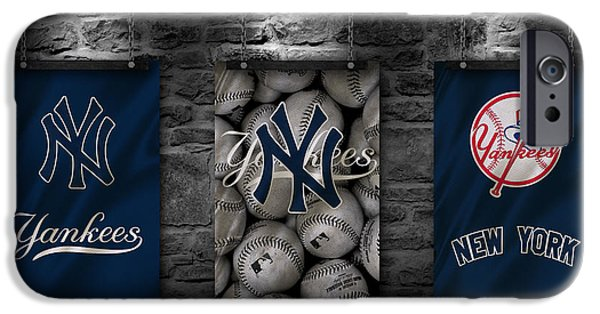 Mlb iPhone Cases - New York Yankees iPhone Case by Joe Hamilton