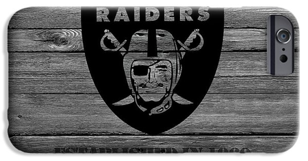 Santa iPhone Cases - Oakland Raiders iPhone Case by Joe Hamilton
