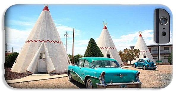 Business Photographs iPhone Cases - Route 66 Wigwam Motel iPhone Case by Frank Romeo