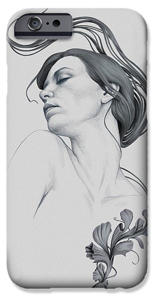 Art Nouveau iPhone Cases - 265 iPhone Case by Diego Fernandez