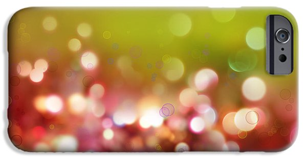 Christmas Digital Art iPhone Cases - Abstract background iPhone Case by Les Cunliffe