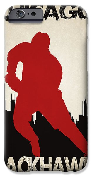 Recently Sold -  - Winter iPhone Cases - Chicago Blackhawks iPhone Case by Joe Hamilton