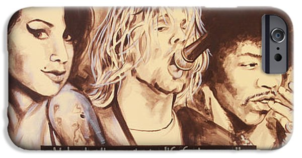 Young Paintings iPhone Cases - 27 Club iPhone Case by Bruce McLachlan