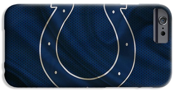 Sports iPhone Cases - Indianapolis Colts iPhone Case by Joe Hamilton