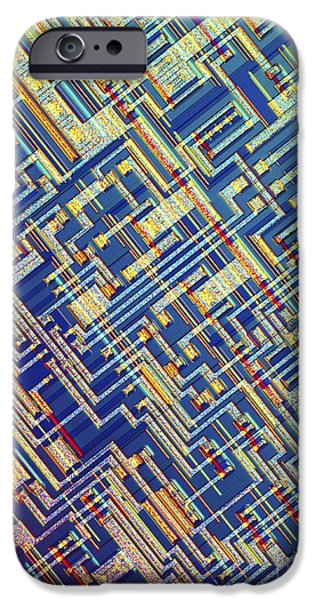 Chip iPhone Cases - Microchip, Light Micrograph iPhone Case by Pasieka
