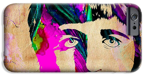 Beatles Mixed Media iPhone Cases - Ringo Starr Collection iPhone Case by Marvin Blaine