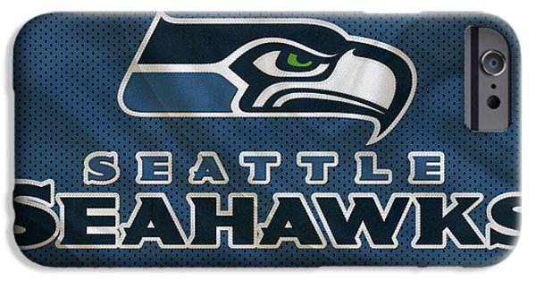 Seahawks iPhone Cases - Seattle Seahawks iPhone Case by Joe Hamilton