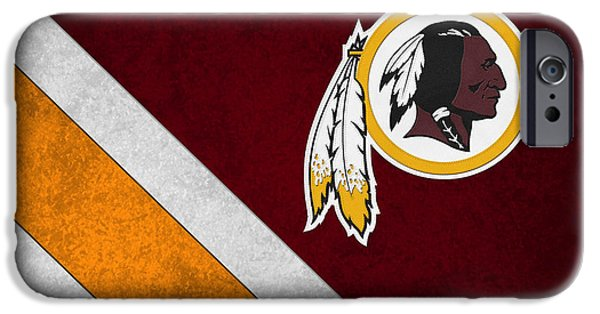 Recently Sold -  - Christmas Greeting iPhone Cases - Washington Redskins iPhone Case by Joe Hamilton