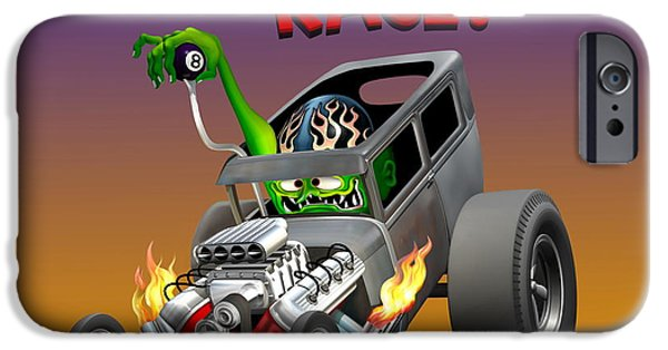 Old Cars iPhone Cases - 28 Ford  iPhone Case by Stuart Swartz