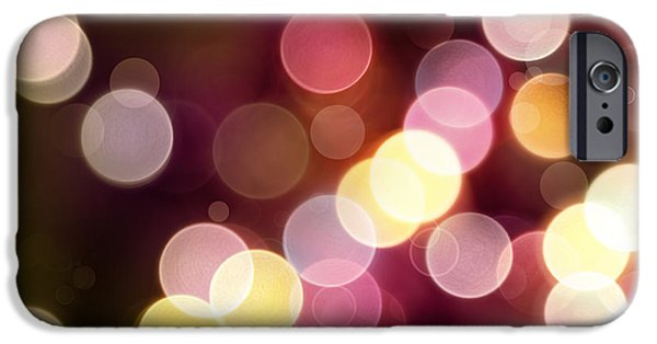Round Digital iPhone Cases - Abstract background iPhone Case by Les Cunliffe