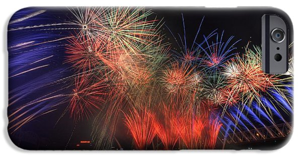 Fireworks iPhone Cases - Cincinnati Fireworks iPhone Case by David Long