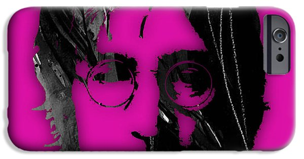 Beatles iPhone Cases - John Lennon Collection iPhone Case by Marvin Blaine