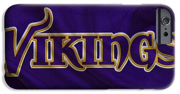 Minnesota iPhone Cases - Minnesota Vikings iPhone Case by Joe Hamilton