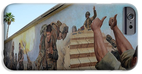 Iraq iPhone Cases - 29 Palms Mural 4 iPhone Case by Bob Christopher