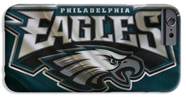 Christmas Greeting iPhone Cases - Philadelphia Eagles iPhone Case by Joe Hamilton