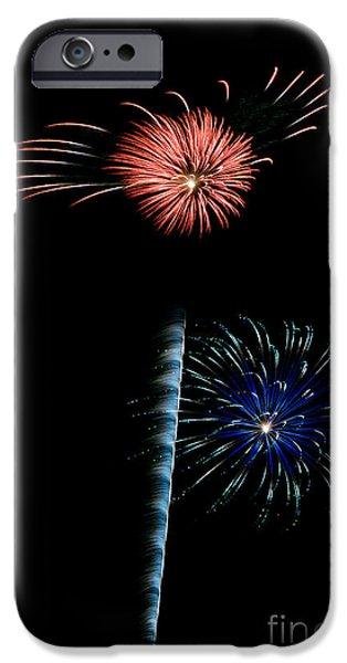 Fireworks iPhone Cases - RVR Fireworks 2013 iPhone Case by Mark Dodd