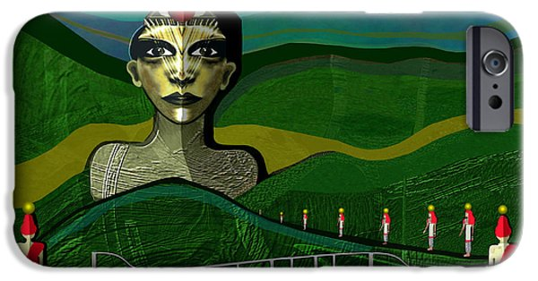 Sombre iPhone Cases - 293 -  Appearance of a new sphinx  iPhone Case by Irmgard Schoendorf Welch