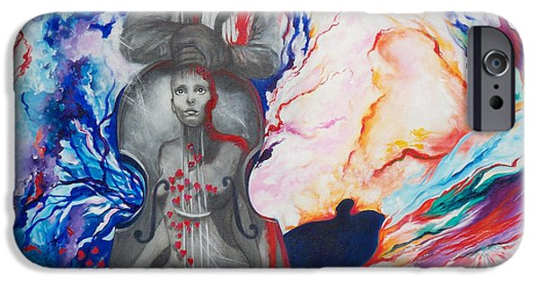 Franklin iPhone Cases - 294  Soul Seduction iPhone Case by Sigrid Tune