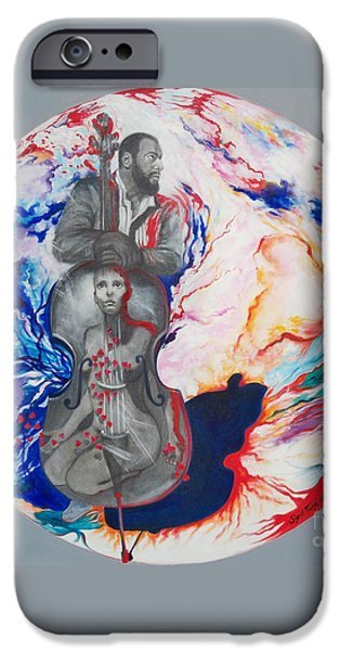 Franklin Paintings iPhone Cases - 294  Soul Seduction iPhone Case by Sigrid Tune